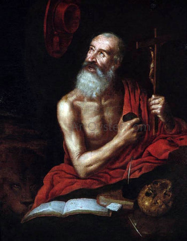 Antonio Puga St Jerome - Hand Painted Oil Painting