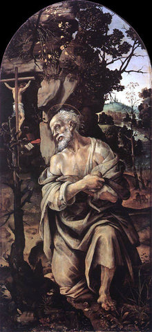 Filippino Lippi St Jerome - Hand Painted Oil Painting