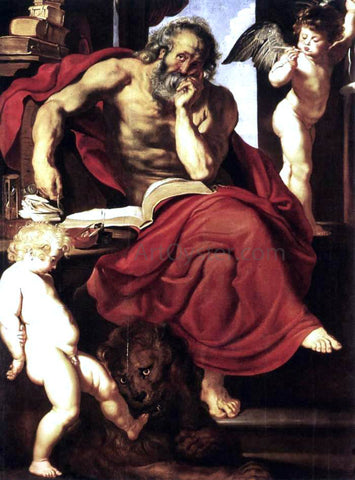Peter Paul Rubens St Jerome in His Hermitage - Hand Painted Oil Painting