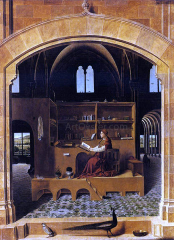 Antonello Da Messina St Jerome in his Study - Hand Painted Oil Painting