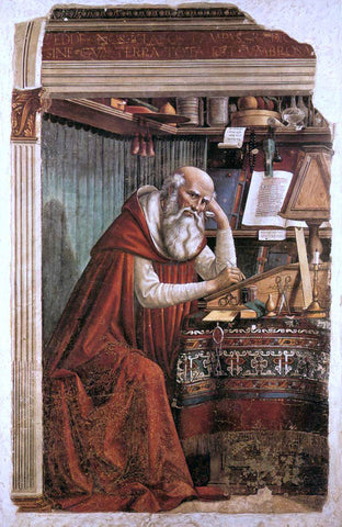 Domenico Ghirlandaio St Jerome in his Study - Hand Painted Oil Painting