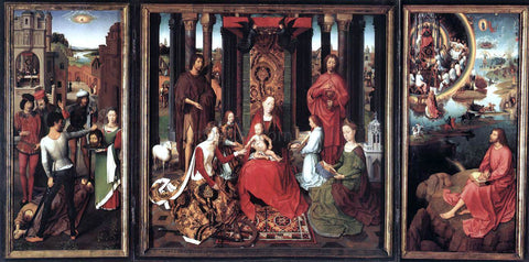 Hans Memling St John Altarpiece - Hand Painted Oil Painting