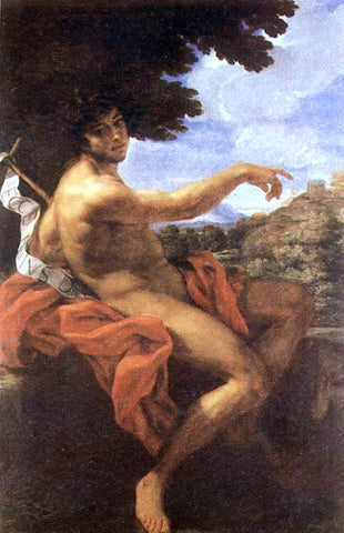Baciccio St John the Baptist - Hand Painted Oil Painting