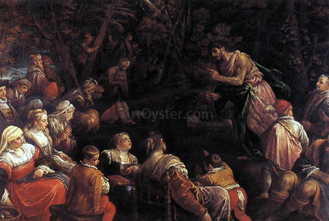 Francesco Bassano St John the Baptist Preaching - Hand Painted Oil Painting