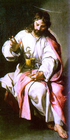 Alonso Cano St. John the Evangelist with the Poisoned Cup - Hand Painted Oil Painting
