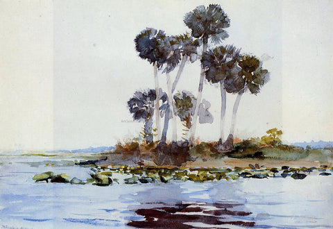 Winslow Homer St. John's River, Florida - Hand Painted Oil Painting