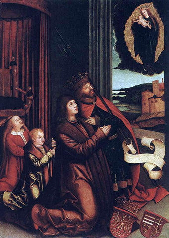 Bernhard Strigel St Ladislas Presents Wladislav II and his Sons to the Virgin - Hand Painted Oil Painting