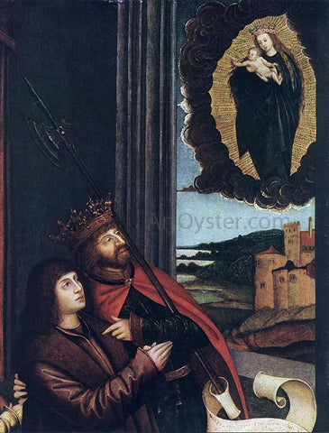 Bernhard Strigel St Ladislas Presents Wladislav II and his Sons to the Virgin (detail) - Hand Painted Oil Painting