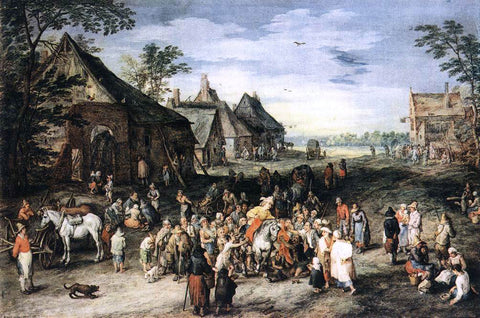 The Elder Jan Brueghel St Martin - Hand Painted Oil Painting