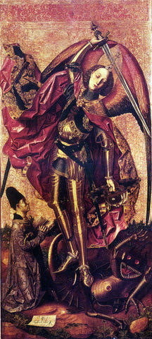 Bartolome Bermejo St. Michael And The Dragon - Hand Painted Oil Painting