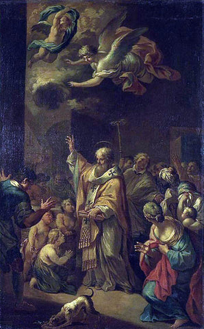 Bon Boullogne St Nicholas Resuscitates the Children - Hand Painted Oil Painting