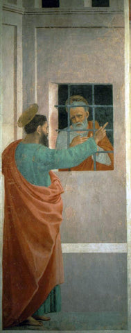 Filippino Lippi St Paul Visits St Peter in Prison - Hand Painted Oil Painting