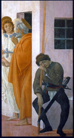 Filippino Lippi St Peter Freed from Prison - Hand Painted Oil Painting