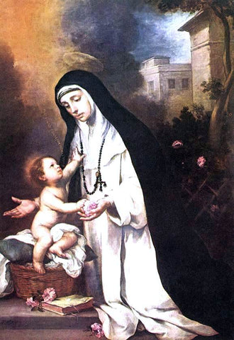 Bartolome Esteban Murillo St Rose of Lima - Hand Painted Oil Painting