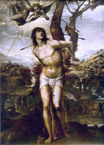 Il Sodoma St. Sebastian - Hand Painted Oil Painting