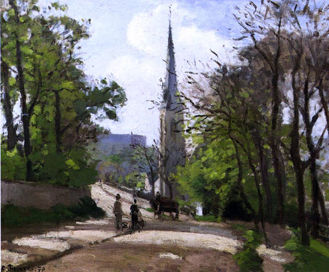 Camille Pissarro St. Stephen's Church, Lower Norwood - Hand Painted Oil Painting