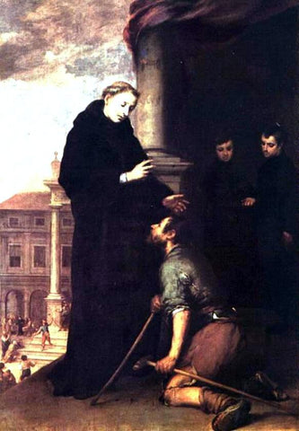 Bartolome Esteban Murillo St. Thomas of Villanueva Distributing Alms - Hand Painted Oil Painting