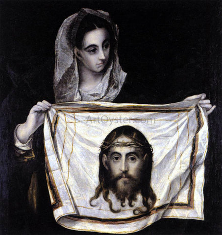 El Greco St Veronica Holding the Veil - Hand Painted Oil Painting
