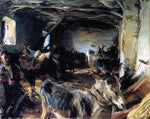 John Singer Sargent Stable at Cuenca - Hand Painted Oil Painting
