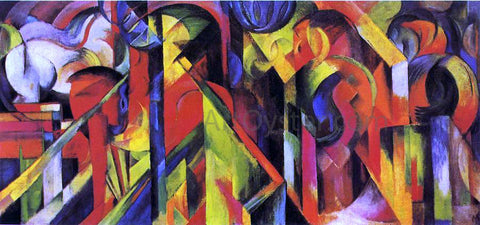 Franz Marc Stables - Hand Painted Oil Painting