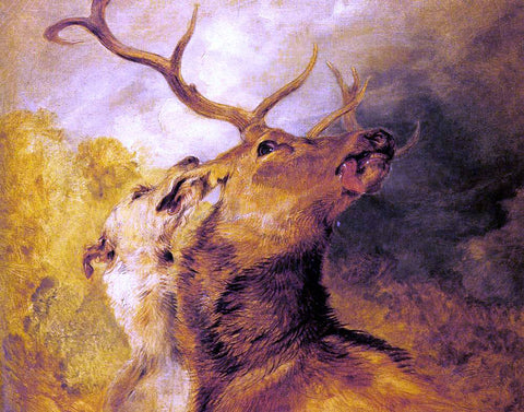 Sir Edwin Henry Landseer Stag and Hound - Hand Painted Oil Painting