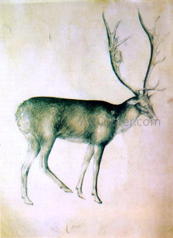 Giovannino De' Grassi Stag (from a sketch-book) - Hand Painted Oil Painting