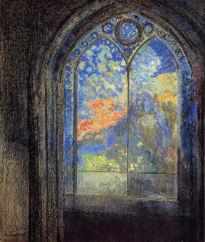 Odilon Redon Stained Glass Window (also known as The Mysterious Garden) - Hand Painted Oil Painting