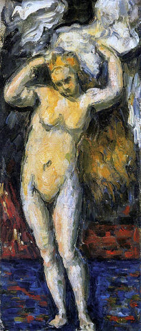 Paul Cezanne Standing Bather, Drying Her Hair - Hand Painted Oil Painting