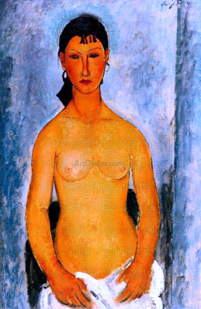 Amedeo Modigliani Standing Nude (also known as Elvira) - Hand Painted Oil Painting
