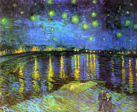 Vincent Van Gogh A Starry Night Over the Rhone - Hand Painted Oil Painting