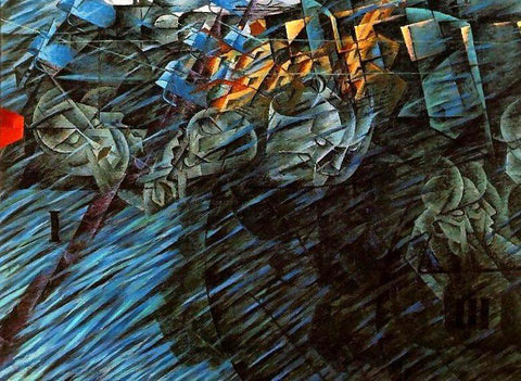 Umberto Boccioni States of Mind, Those Who Go - Hand Painted Oil Painting