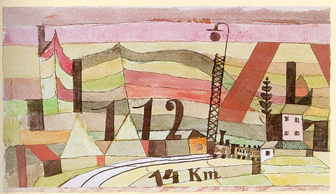 Paul Klee Station L 112 - Hand Painted Oil Painting
