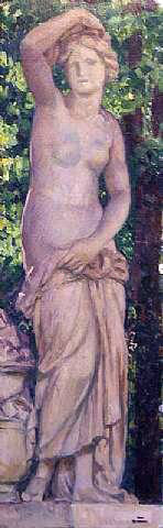 Theo Van Rysselberghe Statue dans le parc - Hand Painted Oil Painting