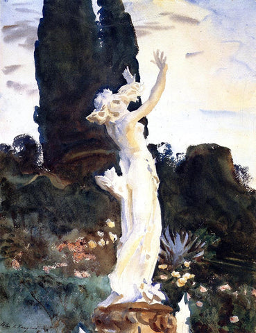 John Singer Sargent Statue of Daphne - Hand Painted Oil Painting