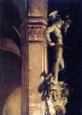 John Singer Sargent Statue of Perseus by Night - Hand Painted Oil Painting
