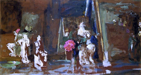 Edouard Vuillard Statuettes on the Mantlepiece - Hand Painted Oil Painting