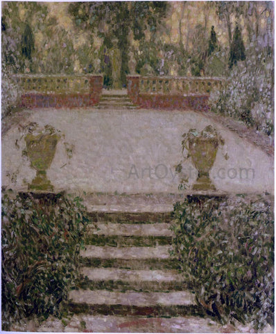 Henri Le Sidaner Steps in the Garden - Hand Painted Oil Painting
