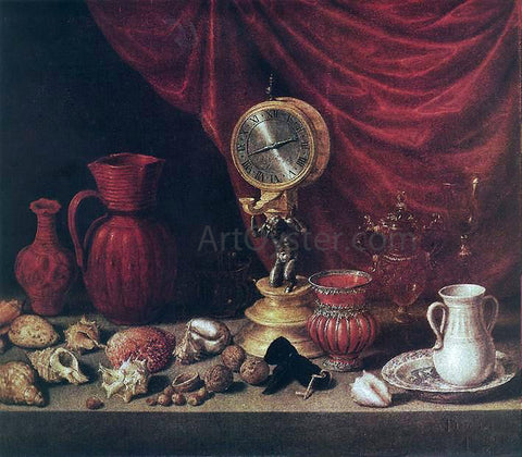 Antonio De Pereda Still-Life with a Pendulum - Hand Painted Oil Painting