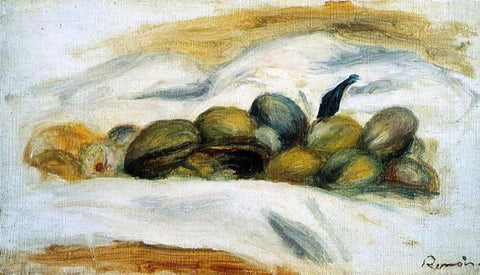 Pierre Auguste Renoir Still Life - Almonds and Walnuts - Hand Painted Oil Painting