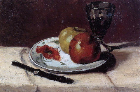 Paul Cezanne Still Life - Apples and a Glass - Hand Painted Oil Painting