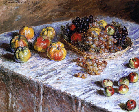 Claude Oscar Monet Still Life - Apples and Grapes - Hand Painted Oil Painting