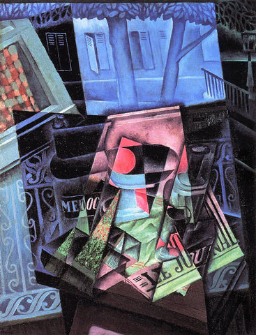 Juan Gris Still Life before an Open Window (also known as Place Ravignan) - Hand Painted Oil Painting