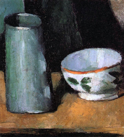 Paul Cezanne Still Life, Bowl and Milk Jug - Hand Painted Oil Painting