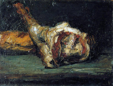 Paul Cezanne Still Life - Bread and Leg of Lamb - Hand Painted Oil Painting