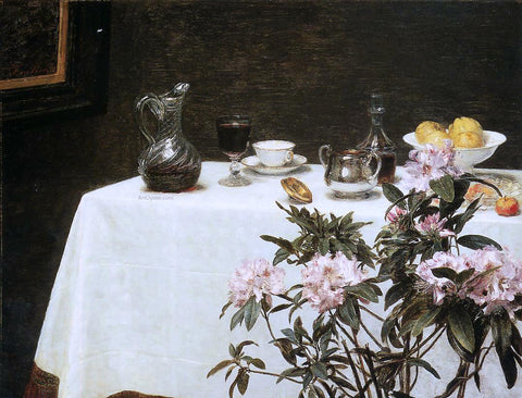 Henri Fantin-Latour Still Life: Corner of a Table - Hand Painted Oil Painting