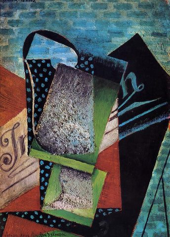 Juan Gris Still Life (dedicated to Andre Salmon) - Hand Painted Oil Painting