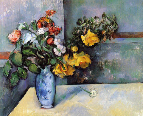 Paul Cezanne Still Life - Flowers in a Vase - Hand Painted Oil Painting