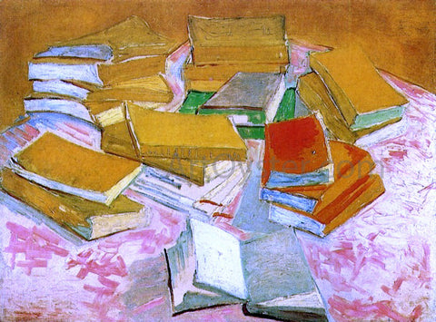 Vincent Van Gogh Still Life: French Novels - Hand Painted Oil Painting