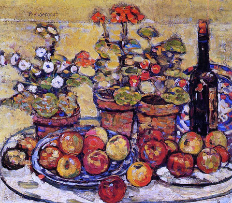 Maurice Prendergast Still Life - Fruit and Flowers - Hand Painted Oil Painting