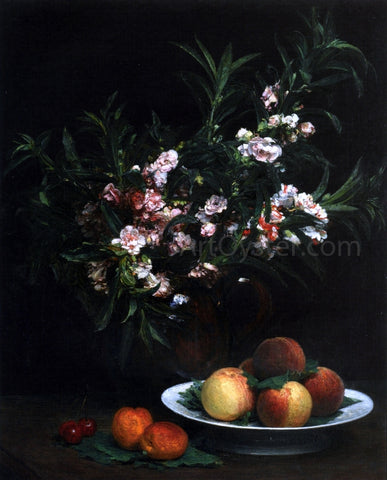 Henri Fantin-Latour Still Life: Impatiens, Peaches and Apricots - Hand Painted Oil Painting